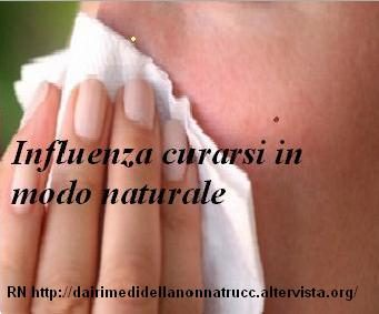 Influenza curarsi in modo naturale