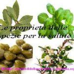 Le proprietà delle spezie per la salute