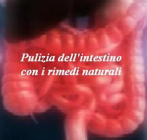 Pulizia dell'intestino con i rimedi naturali