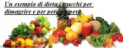 Un esempio di dieta i trucchi per dimagrire e per perdere peso