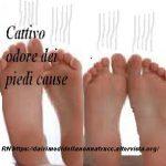 Cattivo odore dei piedi cause