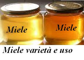Miele varietà e uso