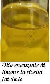 Olio essenziale di limone la ricetta fai da te