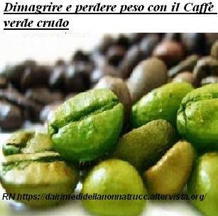 Dimagrire e perdere peso con il Caffè verde crudo