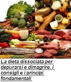 La dieta dissociata per depurarsi e dimagrire, i consigli e i principi fondamentali