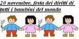 20 novembre, festa dei diritti di tutti i bambini del mondo