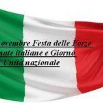 4 novembre Festa delle Forze Armate italiane e Giorno dell'Unità nazionale