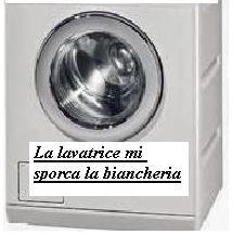 La lavatrice mi sporca la biancheria