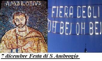 7 dicembre Festa di S Ambrogio