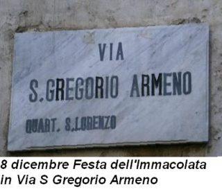 8 dicembre Festa dell'Immacolata in Via S Gregorio Armeno