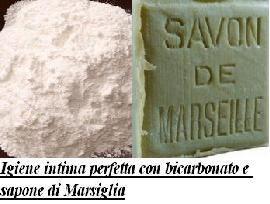 Igiene intima perfetta con bicarbonato e sapone di Marsiglia
