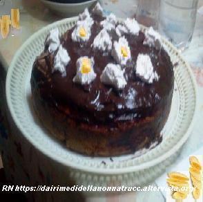 Torta di banana con crema al cioccolato