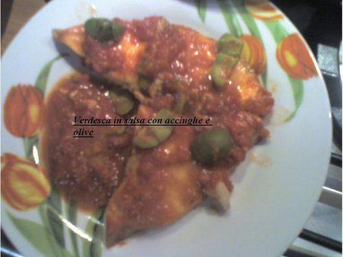 Verdesca in salsa con acciughe e olive