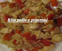 Bocconcini di Pollo con riso e peperoni
