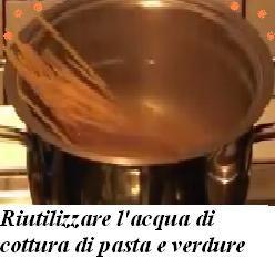 Riutilizzare l'acqua di cottura di pasta e verdure