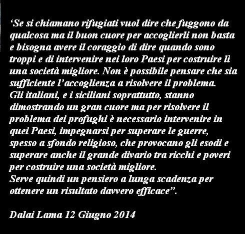 Immagine Frase Dalai Lama Sui Rifugiati