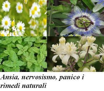 Ansia, nervosismo, panico i rimedi naturali