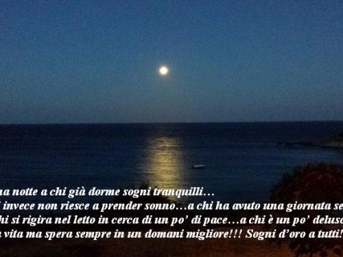 Immagine frase Buona notte e Sogni d'oro