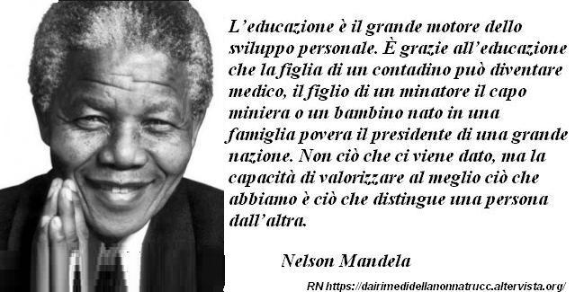 Immagine frase L'Educazione di Nelson Mandela