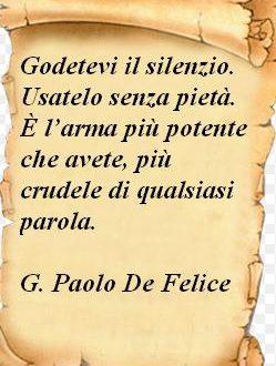 Immagine frase Il silenzio