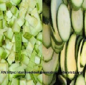 Congelare le zucchine crude