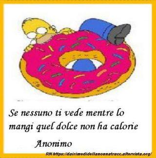 Immagine frase Sulle calorie-Se nessuno ti vede...
