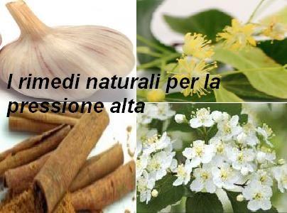 I rimedi naturali per la pressione alta