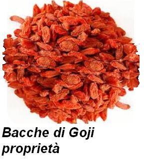 Bacche di Goji proprietà