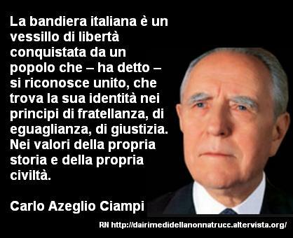Immagine Frase La Bandiera Italiana è Un Vessillo Di Libertà