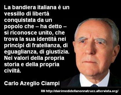 Immagine frase La bandiera italiana è…