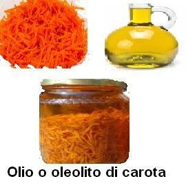 Olio o oleolito di carota