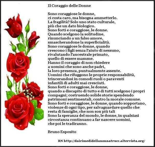 Immagine Frase Il Coraggio Delle Donne Una Bellissima Poesia Di Bruno Esposito
