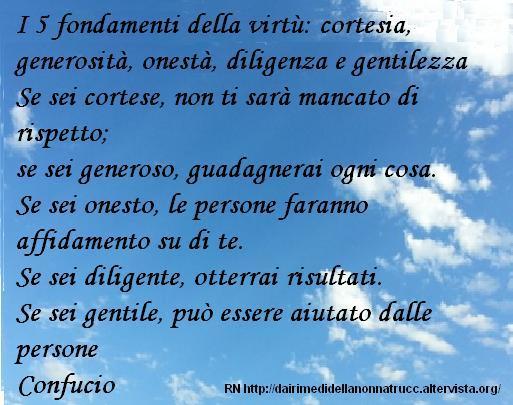 Immagine frase I 5 fondamenti della virtù...