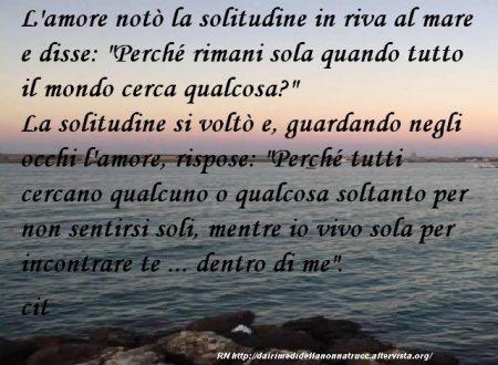 Immagine frase L'amore notò la solitudine…