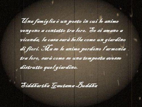 Immagine frase Una famiglia è un posto…