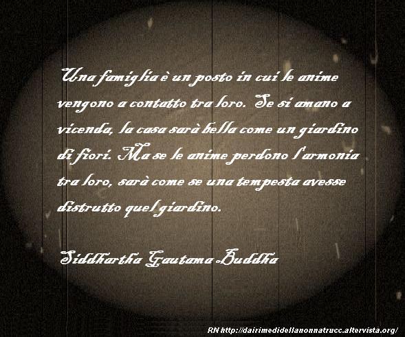Immagine frase Una famiglia è un posto...