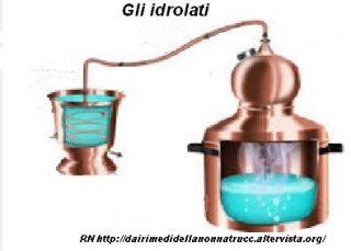 Gli idrolati proprietà e utilizzo