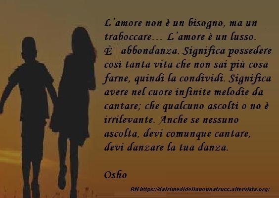 Immagine frase L'amore non è un bisogno...