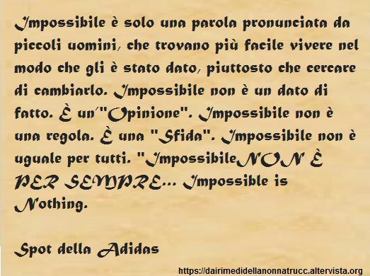 Immagine frase Impossibile è solo una parola...